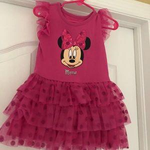 Minnie Mouse pink sparkly tutu dress